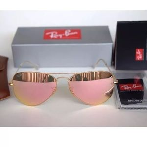Authentic Ray Ban Aviators 3025 Pink